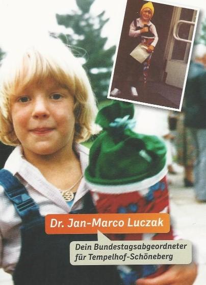 Jan-Marco Luczak mit Schultüte